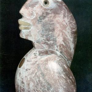 Louise Bourbeau, Cléopâtre, 1989. Calcaire de St-Ferdinand. 23 x 17 x 14 cm. Photo avec l'aimable autorisation de l'artiste.