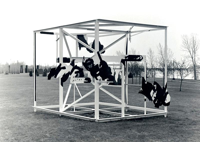 Graham Cantieni, Hermès, 1986. Acier peint, 365 cm (H). Photo : C-D.