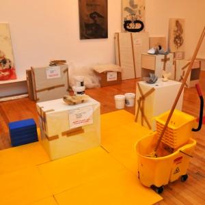 Massimo Guerrera, (vue d'installation) Une Installation au ralenti, 2013, Galerie Joyce Yahouda. Dimensions variables. Photo © : Massimo Guerrera.