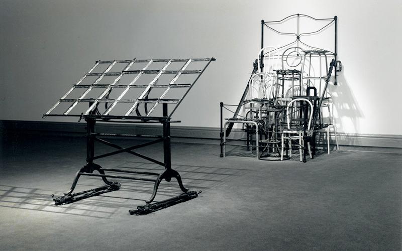 Michel Goulet, Motifs/Mobile, 1987. 239 x 145 x 481 cm, Photo: Patrick Altman.
