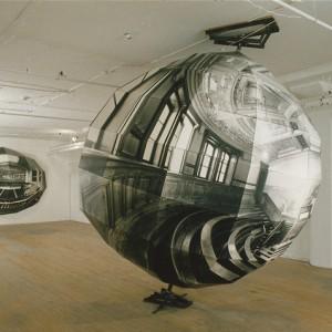 Alain Paiement, (vue d'installation) Amphithéâtre Bachelard, 1988. Papier photographique, bois, métal. Photo © : Alain Paiement.