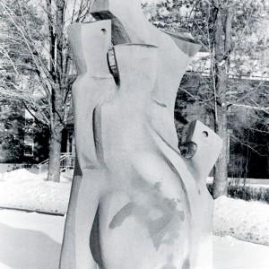 Gaétan Thérien, Le poète,  1966. Pierre. Photo: Ginette Clément, Musée d'art de Joliette.
