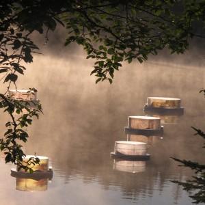 Marie Bineau, Art-Ancrage, Mouvement des courants 1, 2010. Plexiglass, images numériques. Photo avec l'aimable autorisation de l'artiste.