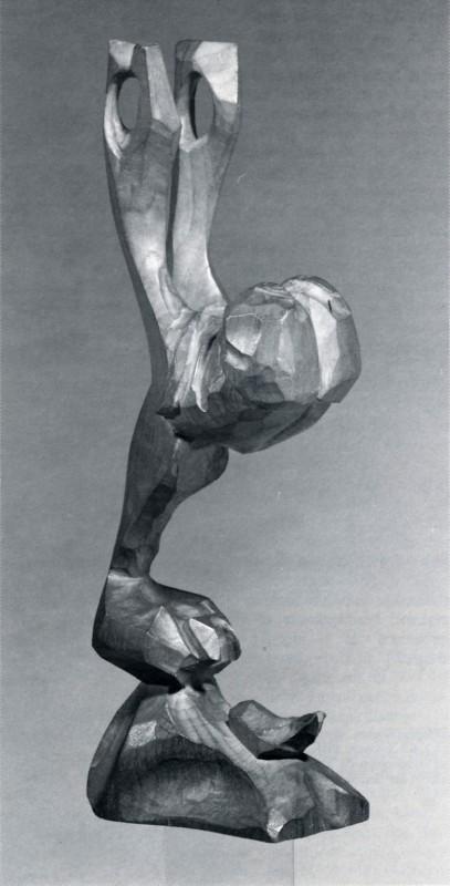 Paul-Emile Borduas, États-Unis, 1951. Bois, 29 x 6 x 10 cm. Photo : avec l'aimaible autorisation du Musée des beaux-arts du Canada.
