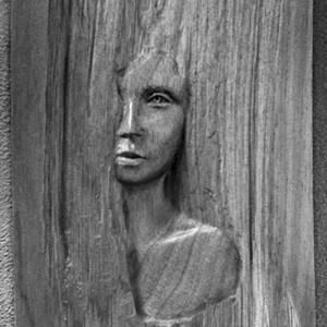 Serge Bourdon,  Kamouraska de Anne Hébert, 1977. Livre d'artiste publié aux Éditions Art Global, bois sculpté. 32 x 18 cm. Photo : Art Global