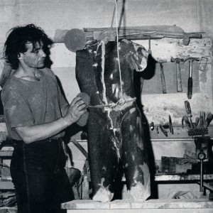 Jean-Louis Émond dans son atelier. Photo : Jean Martin.