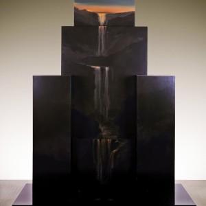 Jocelyn Gasse, Composition no. 104, 1986. Émail polyuréthane sur bois, 240 X 190 X 100 cm.   Coll. permanente du Musée des Beaux Arts du Québec. Photo: Patrick Altman.