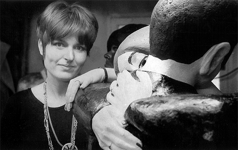 Claire Hogenkamp dans son atelier en 1969. Photo: xxxxx. Avec l'aimable autorisation de l'artiste.
