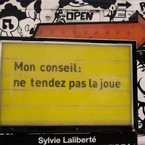 Sylvie Laliberté, Sans-titre, 2014,Grand tableau jaune. DARE-DARE, Montréal.