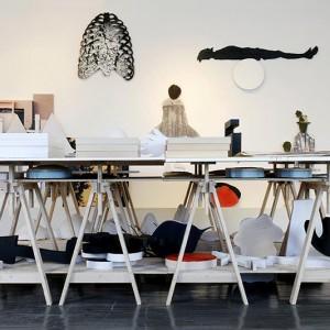 Luc Bergeron, Table des matières, 2010. Bois, plâtre, dessin, toile, photo. 248 x 248 x 248 cm. Photo : Robert Laliberté.