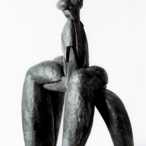 Mario Merola, Cavalle, 1990. Acrylique sur bois. 66 x 48 x 23 cm. Photo avec l'aimable autorisation de l'artiste.