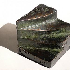 Normand Moffat, Ils sont passés,2007. Bronze. 10 x 10 x 10 cm. Photo : Bruno Tenti.