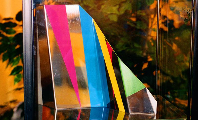 Jacques Palumbo, Réflexion 6, 1996. Acier peint. 26 x 37 x 7 cm. Photo avec l'aimable autorisation de l'artiste.