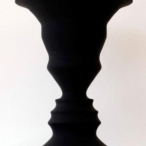 Jean-Pierre Séguin, Pierre Ayot,  2012. Bois tourné et peinture vinylique. 24 x 18 cm. Photo avec l'aimable autorisation de l'artiste.